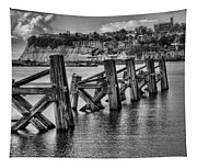 Cardiff Bay Old Jetty Supports Mono Tapestry