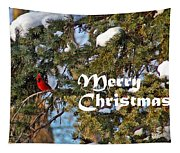 Cardinal Christmas Card Tapestry
