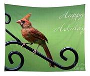 Cardinal Holiday Card Tapestry