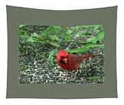 Cardinal In Springtime Tapestry