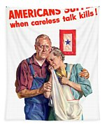 Careless Talk Kills -- Ww2 Propaganda Tapestry