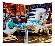 Carousel Horse With Leaves Tapestry