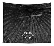 Castle Farms Silo Black And White Tapestry