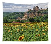 Castle In Dordogne Region France Tapestry