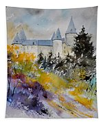 Castle Of Veves Belgium Tapestry