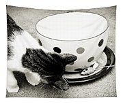 Cat And Mouse Coffee Tapestry