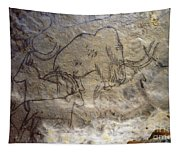 Cave Art - Mammoth And Ibexes Tapestry