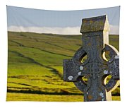 Celtic Cross In A Cemetery Tapestry