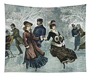 Central Park, Nyc, 1877 Tapestry