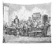 Champagne Production, 1855 Tapestry