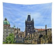 Charles Bridge And Church Dome Tapestry