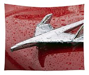 Chevy Bel Air Nomad Hood Ornament Tapestry