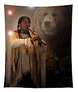 Cheyenne  Flute  Musician Tapestry