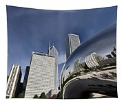 Chicago Cityscape The Bean Tapestry
