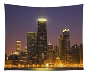 Chicago Skyscrapers With John Hancock Tapestry