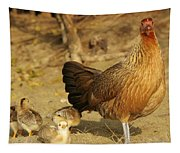 Chicken And Chicks Tapestry