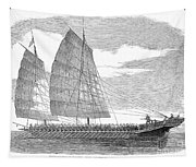 China: Junk, 1857 Tapestry