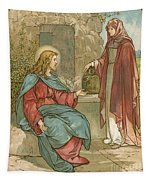 Christ And The Woman Of Samaria Tapestry