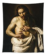 Christ Displaying His Wounds Tapestry