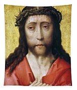 Christ In Crown Of Thorns Tapestry