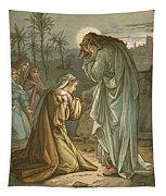 Christ In The Garden Of Gethsemane Tapestry