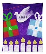 Christmas And Hanukkah Peace Tapestry