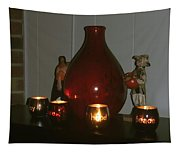 Christmas Candles Tapestry