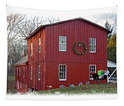 Christmas Eve At Williston Mill Tapestry