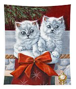 Christmas Kittens Tapestry