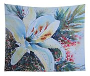 Christmas Lily Tapestry