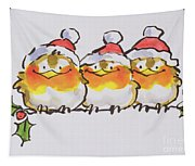 Christmas Robins Tapestry