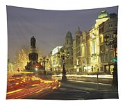 Christmas Traffic On Oconnell Street Tapestry