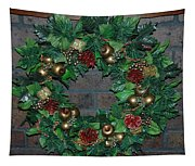 Christmas Wreath Tapestry