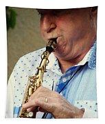 Christopher Mason Alto Sax Player Tapestry