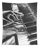 Chrome Piano Man Tapestry