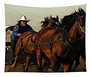 Rodeo Chuckwagon Racer Tapestry