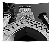 Church Facade In Black And White Tapestry