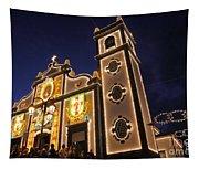 Church Lighting At Night Tapestry