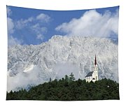 Church On Hilltop Tapestry