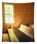 Church Pews - Light Through Window Tapestry