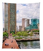 City - Baltimore Md - Harbor Place - Baltimore World Trade Center  Tapestry