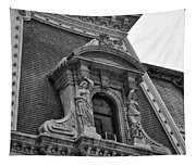City Hall Window In Black And White Tapestry