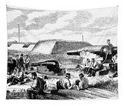 Civil War Battery Scene Tapestry