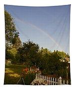 Clear Sky Rainbow Tapestry