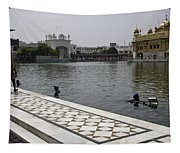 Clearing The Sarovar Inside The Golden Temple Resorvoir Tapestry