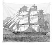 Clipper Ship, 1850 Tapestry