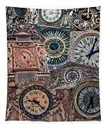 Clocks Of Paris Tapestry