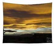 Clouds Illuminated At Sunset Tapestry