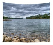 Clouds Over The American River Tapestry