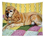 Cocker Spaniel On Quilt Tapestry